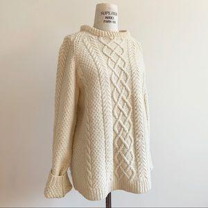 Vintage Oversized Handknit Wool Fisherman Sweater